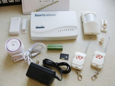 Sistem alarma casa GSM profesional wireless 315/433 mhz cu apelare pe mobil si prin sms - Pret redus si Stoc Limitat ! foto