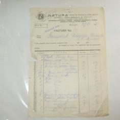 Factura Bucuresti, 1931, Societatea Natura - Cartela telefonica romaneasca