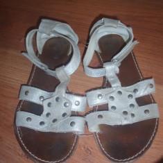 Sandale nr 35 - Sandale copii Zara, Culoare: Argintiu, Fete