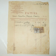 Factura Bucuresti, 1916, Costica G. Jstratescu, Cofetar - Cartela telefonica romaneasca