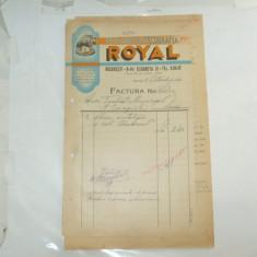 Factura Bucuresti, 1942, Foto Chromo Zincografia Royal - Cartela telefonica romaneasca