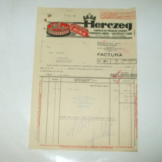 Factura Cluj, 1931, Geza Herczeg, Fabrica de produse chimice - Cartela telefonica romaneasca