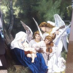 tablou pictura pe pinza in ulei cu sasiu si rama deosebit