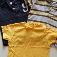 Set de 3 tricouri pentru baieti, marca H&M, la SUPER OFERTA, pentru 80 cm, 1-2 ani H&M, Culoare: Din imagine
