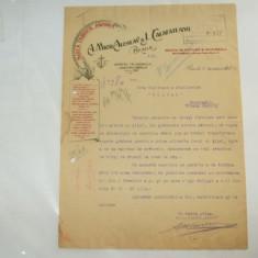 Factura Braila, 1923, Marea Fabrica Ancora - Cartela telefonica romaneasca