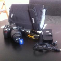 NIKON D3100 + Obiectiv NIKON DX 18-55mm si Card de 4 Gb - Aparat Foto Nikon D3100