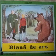 Blana de urs Grimm povesti fermecate editura arta grafica carte ilustrata copii - Carte de povesti