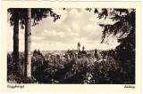 CP Nagybanya-Baia Mare aprox 1940,vedere generala biserica reformata,Foto Weinstock,ed.Frankovits,suprastampila MINISTERUL INFORMATIILOR