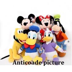 Mickey Mouse Club Set 6 PIESE.Donald Daisy, Gufi Pluto Mikey si Minie muzicale - Jucarii plus Disney