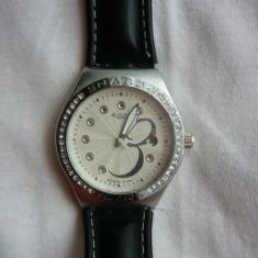 Vand ceas barbatesc Swatch, Elegant, Quartz, Inox, Piele, Data