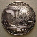 B.562 ITALIA WWII VITTORIO EMANUELE III 50 CENTESIMI 1941 MAGNETIC, Europa