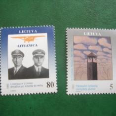 Lituania 1993 aniversari mi 529-530 - Timbre straine