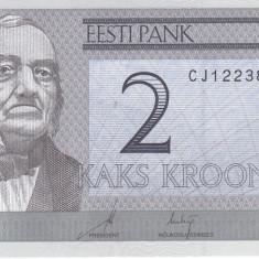 Bancnota Estonia 2 Krooni 2007 - P85b UNC