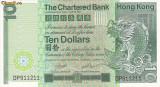 Bancnota Hong Kong (Chartered Bank) 10 dolari 1981 - P77 XF++