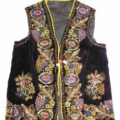 VESTA POPULARA TARANASCA, DIN CATIFEA, BRODATA MANUAL, VECHE - Costum populare