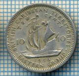 1239 MONEDA  - TERITORIILE BRITANICE DE EST(BRITISH CARIBBEAN TERRITORIES- EASTERN GROUP) - 10 CENTS -anul 1956 -starea care se vede