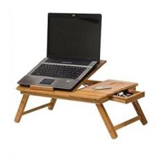 E-Table din lemn de bambus-masuta multifunctionala - Masa Laptop