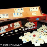 SET DE JOC REMI/RUMMY/REMI LEMN MASIV PIESE PRAF DE PIATRA - Joc board game