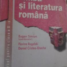 Eugen Simion - Limba si literatura Romana cls a XI-a - Manual scolar corint, Clasa 11, Corint