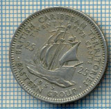 1246 MONEDA  - TERITORIILE BRITANICE DE EST(BRITISH CARIBBEAN TERRITORIES- EASTERN GROUP) - 25 CENTS -anul 1955 -starea care se vede