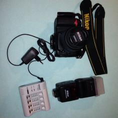 Nikon D7000, 18-55mm, blitz extern SB600, card 8gb - Aparat Foto Nikon D7000, Kit (cu obiectiv)
