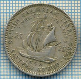 1242 MONEDA  - TERITORIILE BRITANICE DE EST(BRITISH CARIBBEAN TERRITORIES- EASTERN GROUP) - 25 CENTS -anul 1955 -starea care se vede