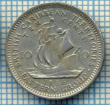 1240 MONEDA  - TERITORIILE BRITANICE DE EST(BRITISH CARIBBEAN TERRITORIES- EASTERN GROUP) - 10 CENTS -anul 1956 -starea care se vede