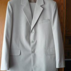 Costum pentru barbati ieftin - Costum barbati, Marime: 50, Culoare: Khaki, Marime sacou: 50, Normal