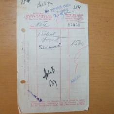 Nota de plata Editura Libraria si Papetaria Remus Cioflec Bucuresti 1943 - Hartie cu Antet