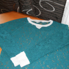 Bluza ZARA - Bluza dama Zara, Culoare: Verde, Marime: 28, Maneca lunga, Casual, Verde