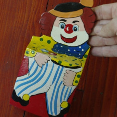 Pusculita deosebita lemn / placaj pictata frumos - Clown !!! - Colectii