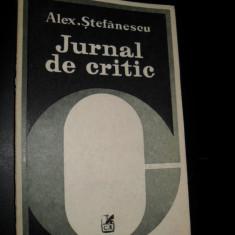 Cartea Romaneasca, Alex. Stefanescu - Jurnal de critic