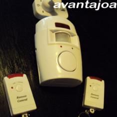 ALARMA SENZOR MISCARE cu 2 telecomenzi pt magazin garaj apartament - Senzori miscare