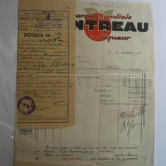 Factura Cointreau Liqueur Bucuresti 1937 - Hartie cu Antet