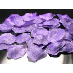 Petale trandafiri artificiale, lila - 500 buc / set