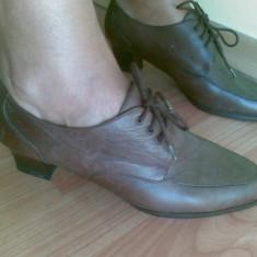 Pantofi din piele marimea 38, sunt noi! - Pantof dama, Culoare: Maro, Maro