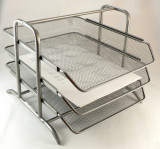 Set 3 tavi metalice (raft) pt documente - cu sertare glisante - elegant si util