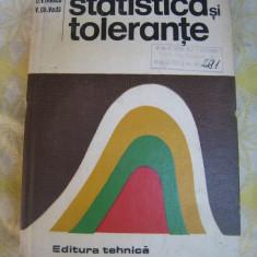 Statistica si tolerante Iliescu D.V