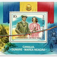 NICOLAE SI ELENA CEAUSESCU  -  COLITA 1985 UNC