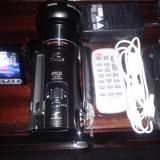 Camera video Canon vixia HF 10 FullHD + Lentile MACRO/WIDE, Card Memorie, CMOS, 10-20x