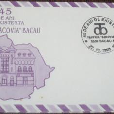 ROMANIA - BACAU 1993. TEATRUL BACOVIA. PLIC OCAZIONAL COMEMORATIV (PB32)