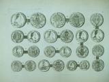 Gravura circa 1820 monede Ungaria  Imparateasa Maria Tereza