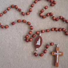 Margele de lemn cu icoana si cruce