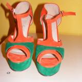 Sandale Benvenuti Exotic Colours, marime 38 NOI - Sandale dama, Verde
