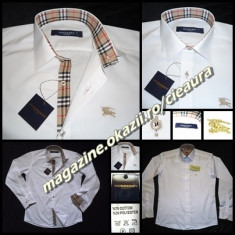 CAMASA BARBATEASCA ALBA NASTURI NEGRI FIRMA BURBERRY LONDON REGULAR FIT - Camasa barbati Burberry, Marime: S, M, XXXL, Maneca lunga