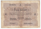 "Transilvania,Ungaria,1 FORINT ""UN FLORINT"" 1848-1849,legeda si in romana cu litere cirilice,semnatura lui Kossuth, FOARTE RARA!!!"