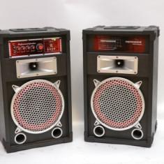 SISTEM 2 BOXE ACTIVE/AMPLIFICATE,250 WATT,MP3 PLAYER STICK /CARD,RADIO FM,MIXER INCLUS+2 MICROFOANE BONUS.