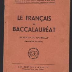 EMarcel Fontaine - Le francais au Baccalaureat, memento du candidat