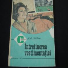 ABEL DARABAN - INTRETINEREA VESTIMENTATIEI {1988}