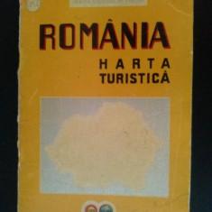Harta turistica a Romaniei, emisa de Oficiul National de Turism (O.N.T.) 1939